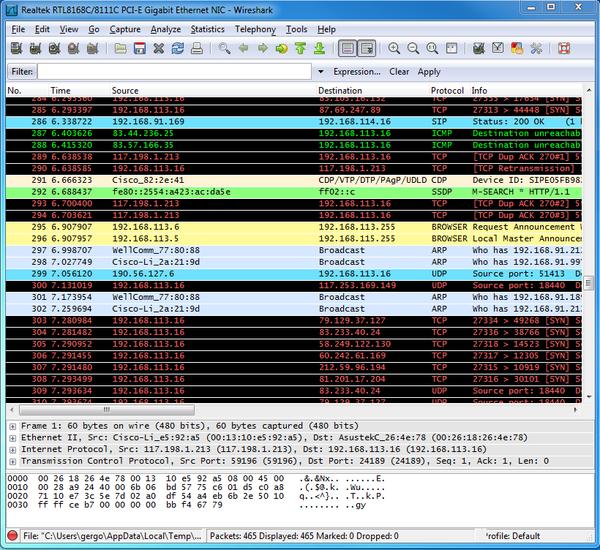 Ozeki C# SIP Stack - Wireshark Log
