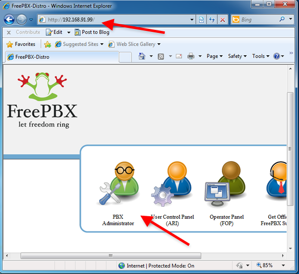freepbx in your browser