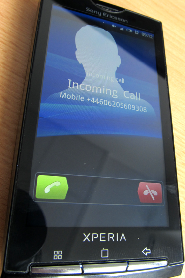 incoming call from ozeki voip sip sdk